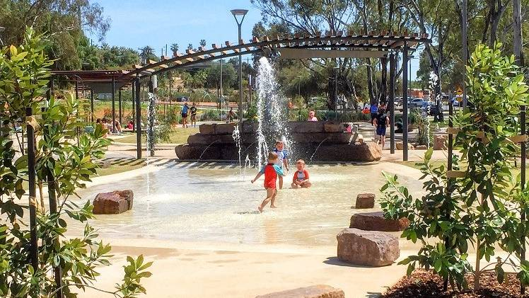 WATER PLAY: A similar 'natural' water play park in Mildura, which the Horsham proposal will take inspiration from. Picture: HORSHAM RURAL CITY COUNCIL