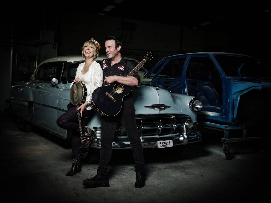 HAPPY: Felicity Urquhart and The Waifs' Josh Cunningham have found love and a new musical partnership.