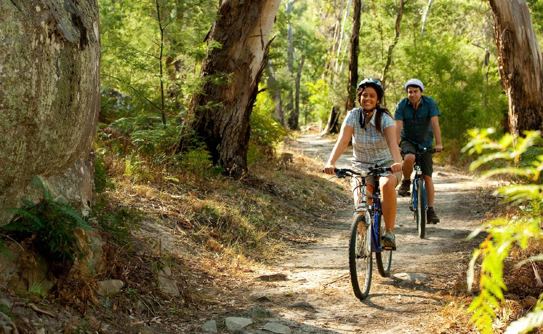 ON YOUR BIKE: There are many trails to explore in the Grampians. Picture: SUPPLIED