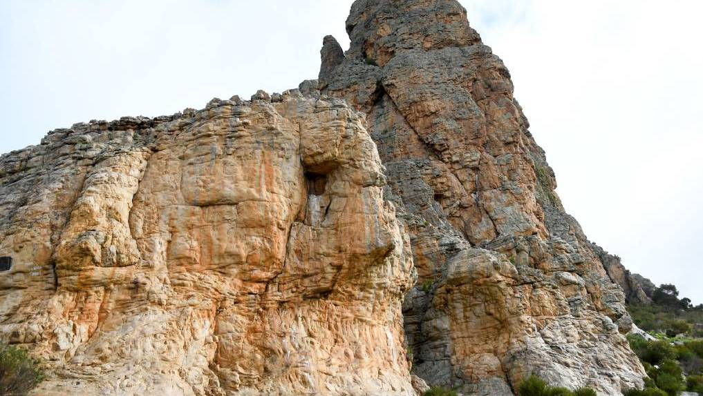 PLAQUE ROCK: More cultural heritage has been rediscovered at Mount Arapiles.