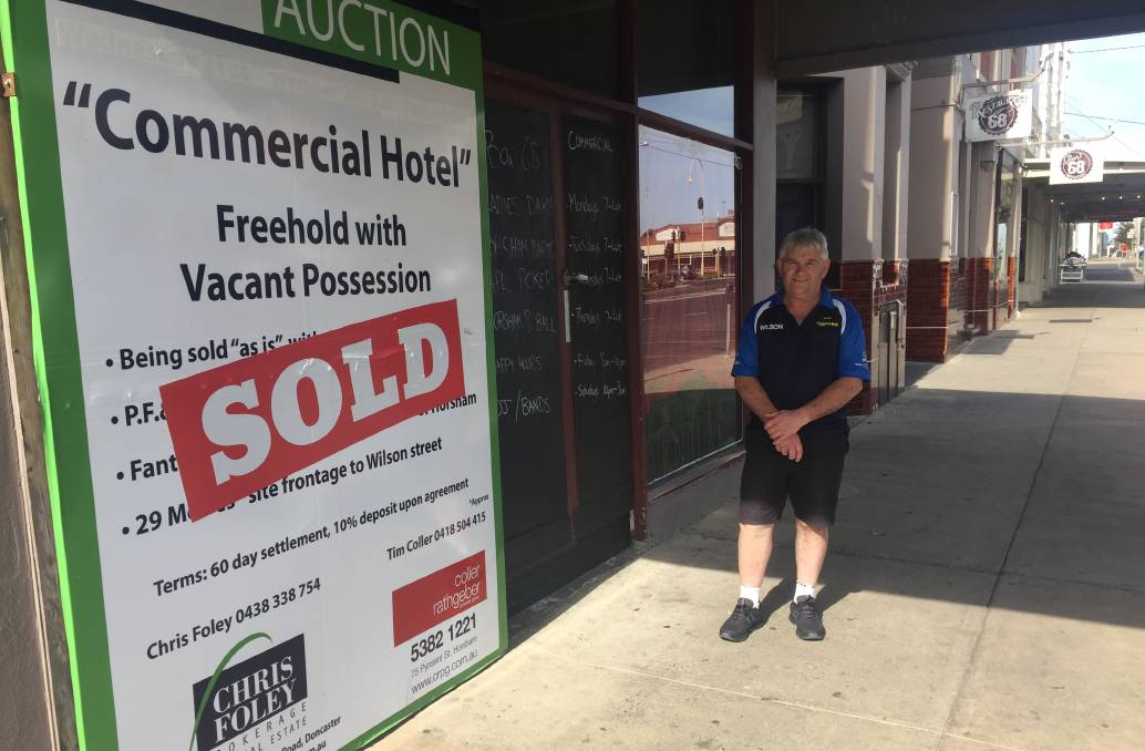 PUB-LIC KNOWLEDGE: Wimmera Outdoors owner Gary Jelly has sold Horsham's Commercial Hotel after months on the market. Picture: ALEXANDER DARLING