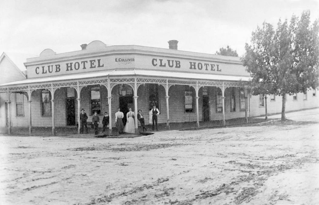 GLORIOUS: The Club Hotel, north-west corner of Wilson and Urquhart Streets - looking north-west, about 1900. Picture: HORSHAM HISTORICAL SOCIETY (000862)