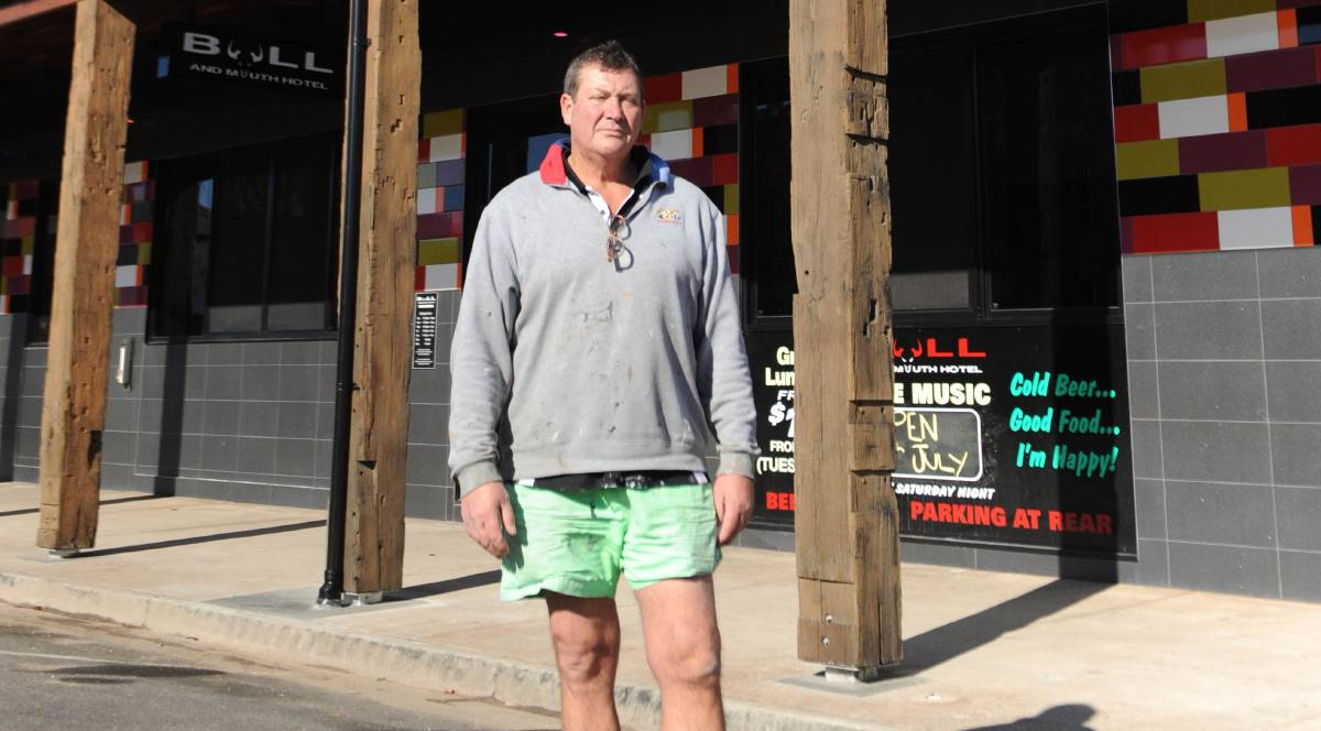 Welcome news: Simon Mitchell, owner of the Bull and Mouth Hotel, is rapt caps on hotels were lifted to 150 people per venue. Picture: FILE
