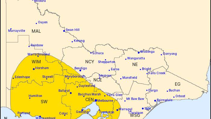 Heavy rainfall, isolated thunderstorms forecast for Wimmera