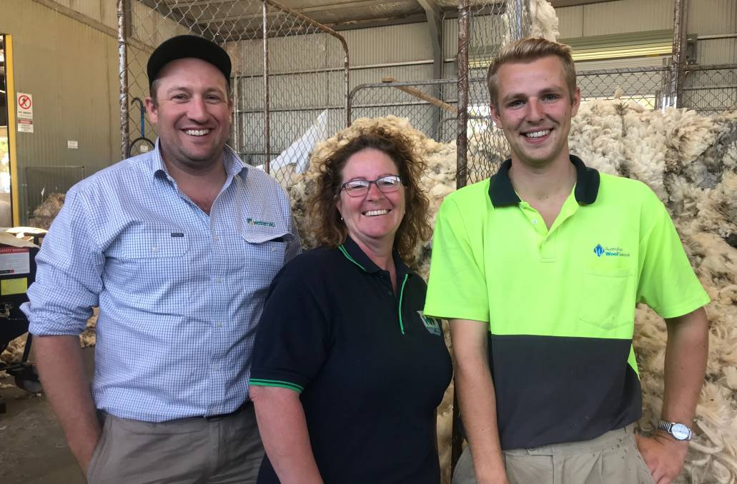 LEADERSHIP TEAM: Horsham Agriculture Society vice president Nick Zordan with incoming president Pamela Pratt and junior vice president Zack Currie. Picture: CONTRIBUTED