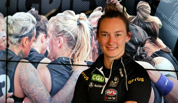 Sophie Alexander has been given an AFLW contract with Collingwood. Picture: COLLINGWOOD MEDIA