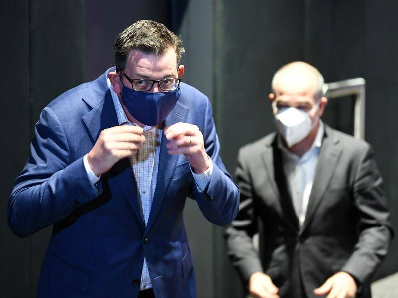 Victoria Premier Daniel Andrews is leading by example as Melburnians are urged to wear face masks.