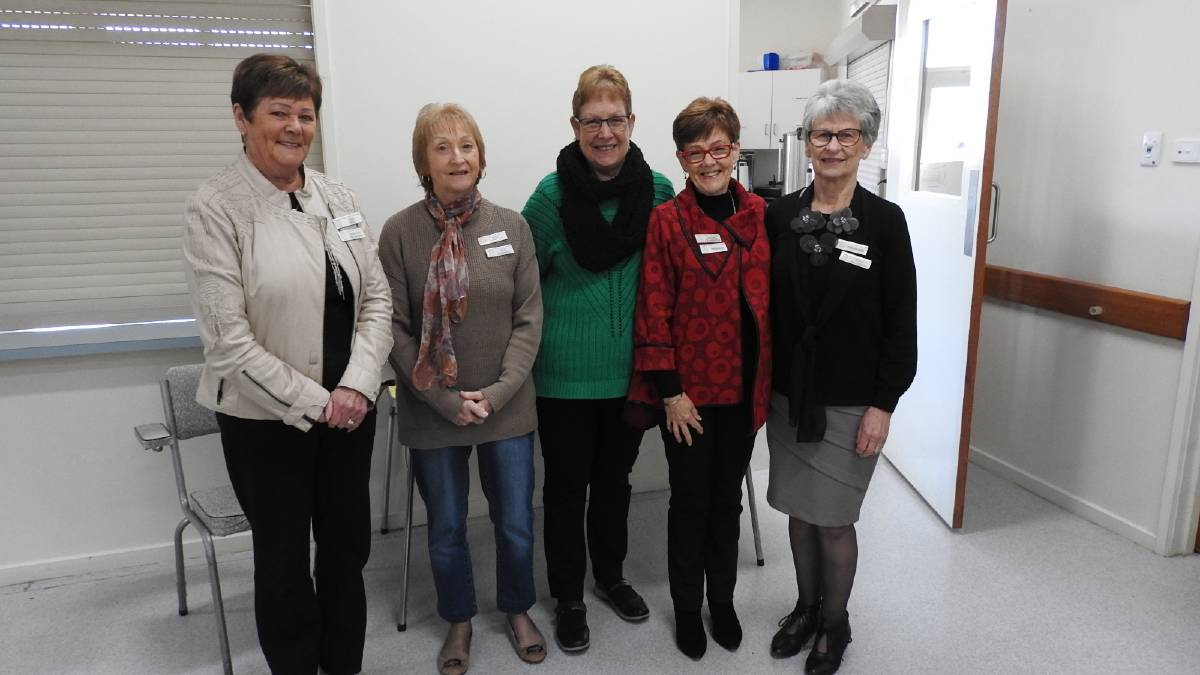 Rae Hill, Judy Garwood, Jenny Tippet, Lea Crammond and Nola Bellinger at the annual general meeting in September 2019. Picture: CONTRIBUTED